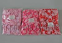 Фетровые цветочки с полубусиной на тканевой основе 2,6 см 1000 шт