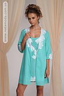 1242 Батистовая ночная сорочка с халатом Adel фирмы Komilfo