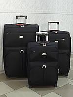 Комплект чемоданов на 2 колеса Sanjerly 9008 черный 3 штуки