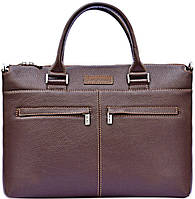 Деловая мужская сумка из натуральной кожи GO-AHEAD MAN ISSA HARA B2 (12-00), коричневый