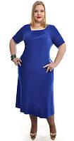 Платье женское полу батал, со вставками гипюра, фото 1