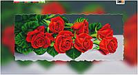 """Схема для вышивки бисером на подрамнике (холст) """"Букет красных роз"""""""