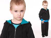 Трикотажная кофта с капюшоном для мальчика ( р.98-134)