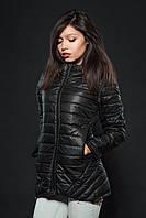 Молодежная женская демисезонная куртка. Цвет черный. Код модели К-73-12-16.