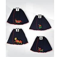 Юбка с вышивкой для девочки, подростка, интерлок, р.р.28-40
