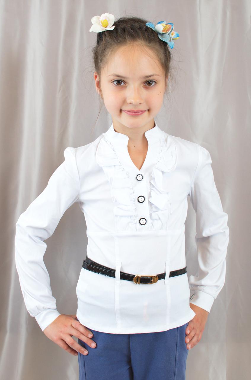 Блузка Белая Школьная Доставка