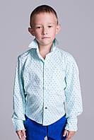 Стильная рубашка для мальчика в расцветках на кнопках-ромбиках