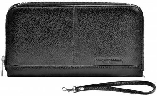 Кожаный клатч-кошелек ISSA HARA CL2-1 (11-00), черный