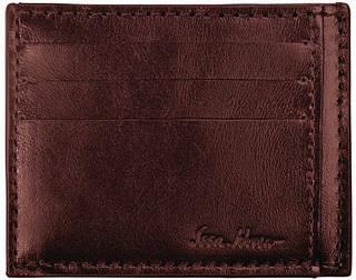 Стильный мужской кожаный кардхолдер на 8 слотов ISSA HARA CH1 (02-00), коричневый