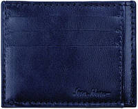 Замечательный мужской кожаный кардхолдер на 8 слотов ISSA HARA CH1 (03-00), синий