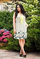 Женственное летнее платье из поплина