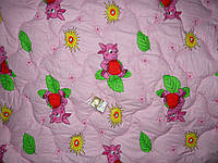 Одеяло детское силиконовое + подушка 110*140 поликотон (2900) TM KRISPOL Украина