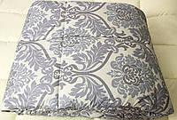 Одеяло двухспальное евро 100% овечья шерсть 200*210 хлопок (4419) TM KRISPOL Украина