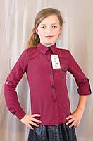 Модная стильная блуза-рубашка в клетку на девочку.