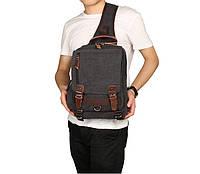 """Рюкзак сумка через плече стиль """"Canvas """""""