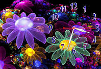 Часы на стену z 141 30х45 цветы, космос