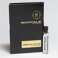 Пробник-Парфюмировання вода Montale Amber & Spices  edp (U) Vial 2 мл