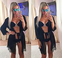 Женская модная пляжная накидка с кружевом в расцветках