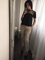 Женская красивая блуза с сеткой (2 цвета)