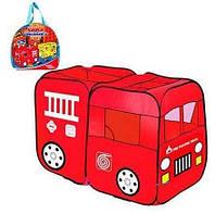 Палатка детская игровая Пожарная машина M 1401