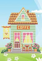 """Схема для вышивки бисером """"Кофейный домик"""""""