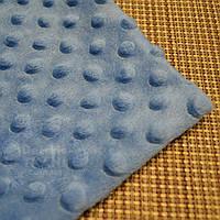 Лоскут ткани minky М-22 размером 80*80 см тёмно-голубого цвета