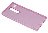 Силиконовый чехол-накладка на телефон LG Class H650E (TPU Сrystal Rose)