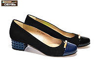Женские кожаные туфли на маленьком каблуке