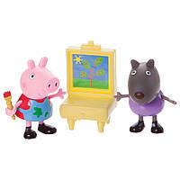 Набор свинка Пеппа и Дэнни на рисовании