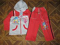 Детский спортивный костюм 2-х нитка на байке для девочек 2-8 лет Турция
