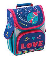 """Рюкзак(ранец) школьный каркасный 13,4 """","""" love""""701"""" для девочек"""