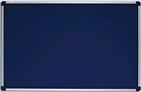 Доска для объявлений текстильная в алюминиевой раме S-line Синяя 100х180см