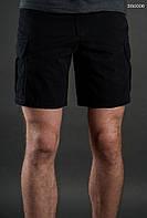 Лёгкие летние шорты карго ( с эффектом потёртости ) Staff - Art. BR0006 ( чёрный )