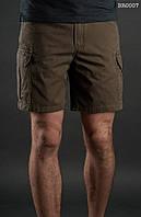 Лёгкие летние шорты карго ( с эффектом потёртости ) Staff - Art. BR0007 ( хаки )
