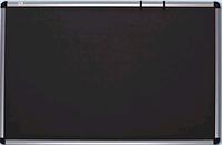 Доска для объявлений текстильная в алюминиевой раме S-line Серая 100х180см