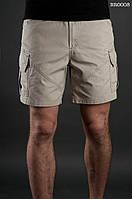 Лёгкие летние шорты карго ( с эффектом потёртости ) Staff - Art. BR0008 ( бежевый )