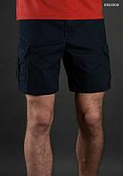 Лёгкие летние шорты карго ( с эффектом потёртости ) Staff - Art. BR0009 ( тёмно-синий )