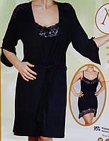 Женский халат с ночной сорочкой №91086