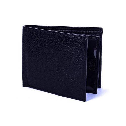 Классический мужской кошелек из натуральной кожи VALENTA (ВАЛЕНТА) XP2281 черный