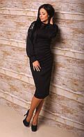 Платье женское,отделка из экокожи, фото 1