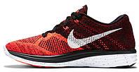 Мужские кроссовки Nike Lunar Flyknit (найк лунар флайнит) красные
