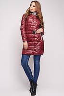 Куртка женская демисезонная удлиненная, цвет вишня LS-8546