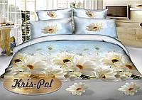 Постельное белье двухспальное 180*220 полисатин (5561) KRISPOL Украина