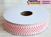 Кружево лента сетка (2 см) светло- розовый