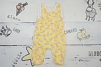 Детские тёплые высокие ползунки пошиты из нежной байки для новорожденных размер 62