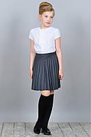 Школьная рубашка с коротким руковом Амелия  122-146рр белая