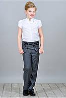 Школьная рубашка с коротким рукавом Виолетта  122-146рр белая