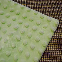 Лоскут ткани minky М-21 размером 40*40 см, цвет салатовый