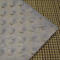 Лоскут ткани minky М-19 размером 40*40 см светло-серого цвета