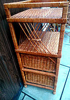 Шухляда с полкой плетеная ручной работы